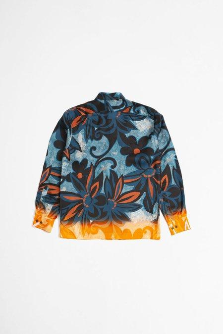 Dries Van Noten Clasen shirt print - blue/orange