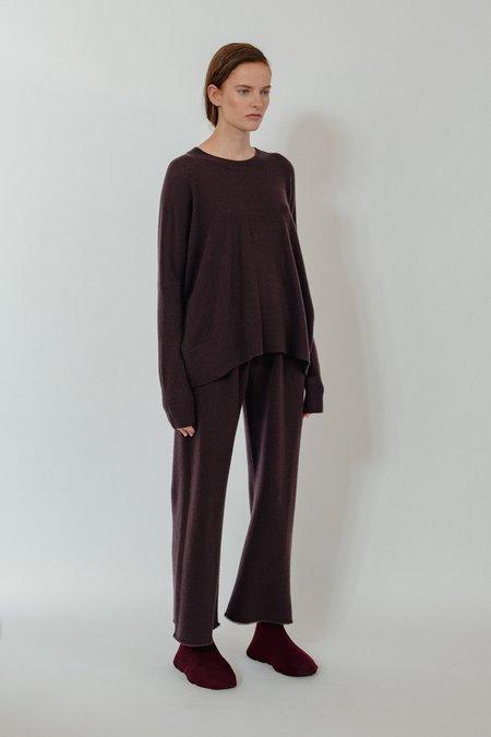 Oyuna Mara Knitted Wool Blend Pullover - Star Wine
