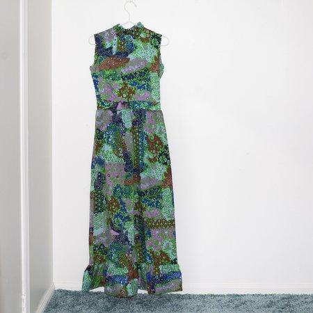 Kintsugi Paisley Dress - Green Floral