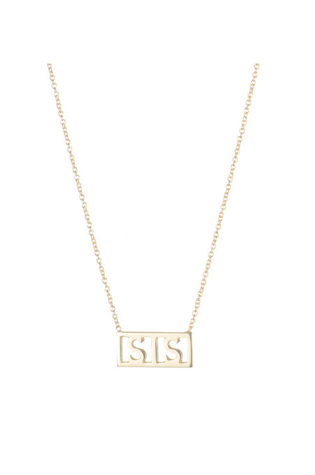 Winden Sis Necklace, 14K Yellow Gold