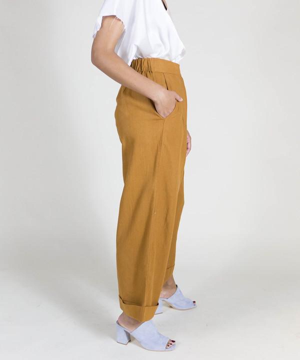 Ali Golden Rust Roll Cuff Pants