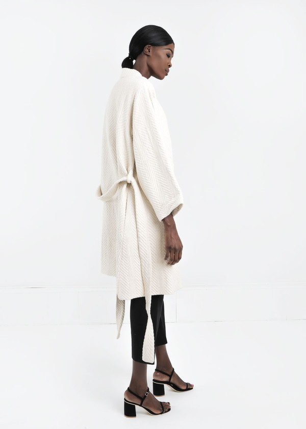 Wray Natural Mantle Robe Coat