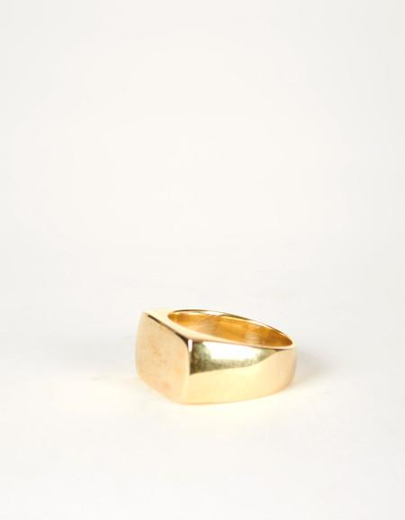 Jon Swinamer Plain Signet Ring - Bronze