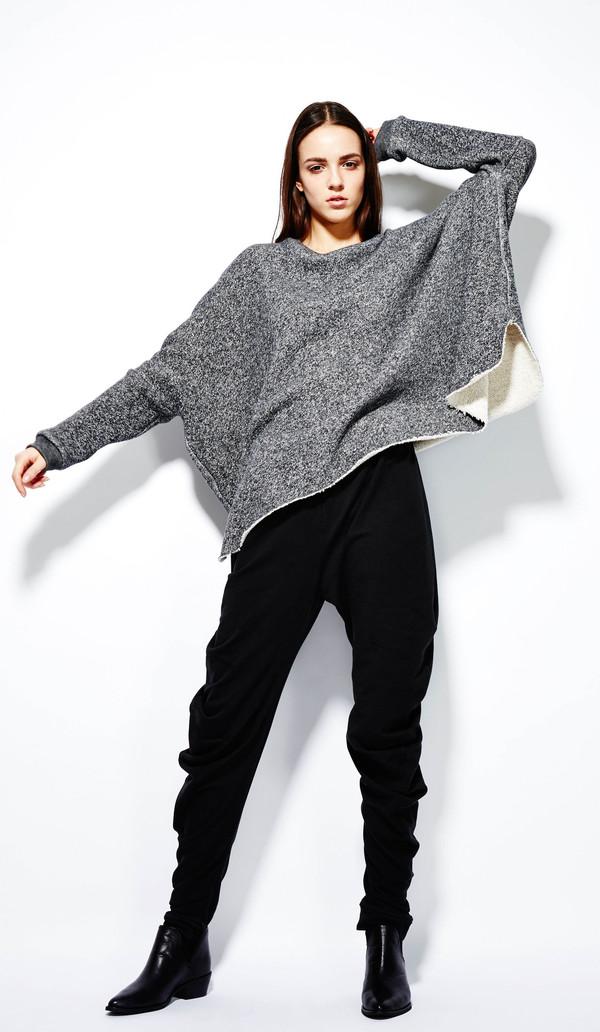 Devlyn Van Loon Curve Sweater - Charcoal Melange