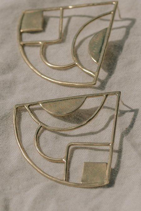 Take Shape Studio Brass Pop Fan Earrings