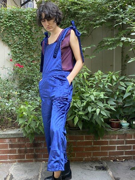 Alix of Bohemia Velvet Overalls - BLUE