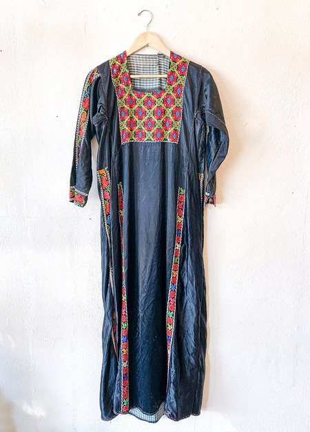 Vintage 1930's Bohemian Dress - Black