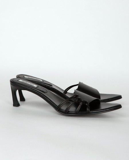 Reike Nen Side Knot Mules - Black