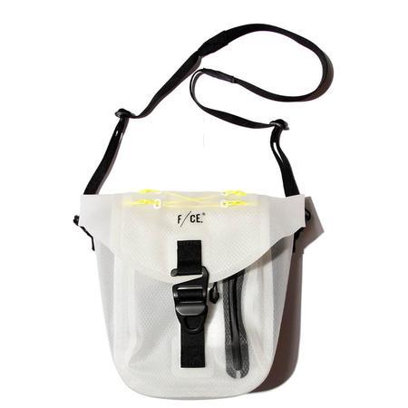 F/CE Flamework Pochet Waterproof Shoulder Bag - White