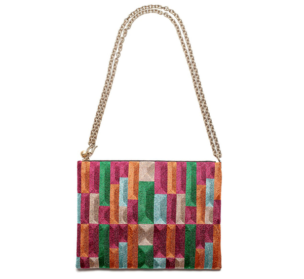 Anne Grand-Clément Tetris Multicolor Extra Medium Pouch