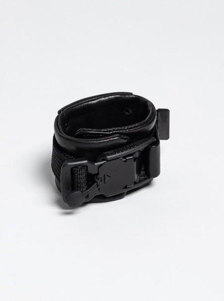 The Viridi-Anne Lamb Leather Wristband - Black