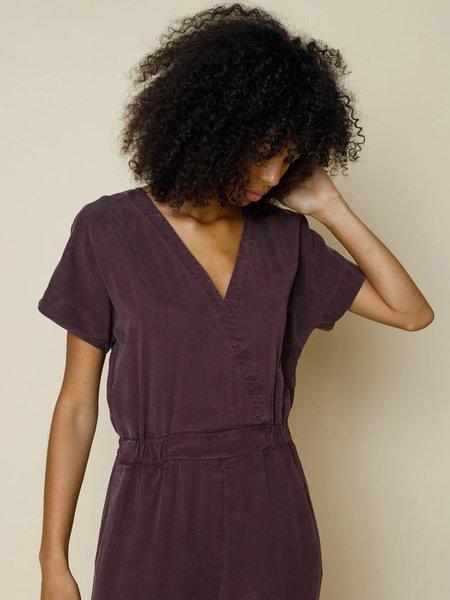 Folk Clothing Folk Wrap Jumpsuit - Aubergine