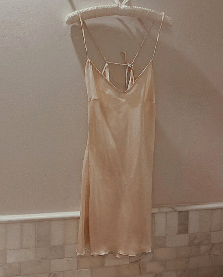 Petit Mioche Short Silk Slip Dress - Dawn