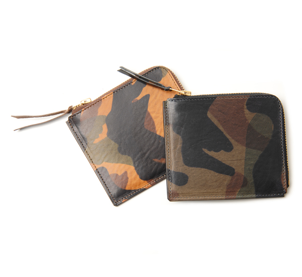 Anchor Bridge AB Short Zip Brown Camo Wallet