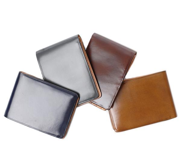 Il Bussetto Navy Bi Fold Wallet