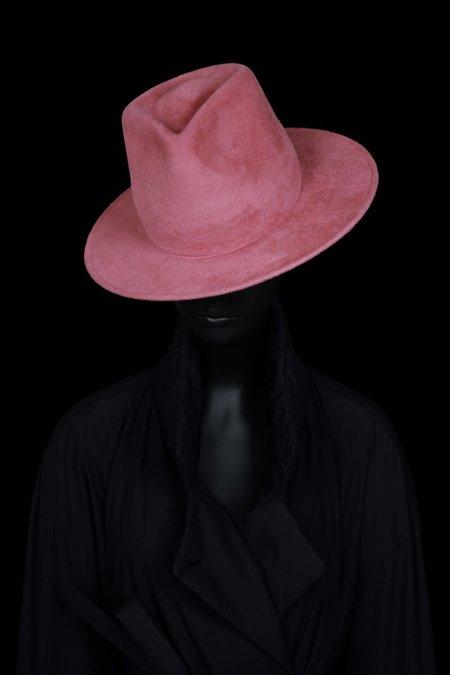 Esenshel Tear Tall Round Brim Hat - Rose