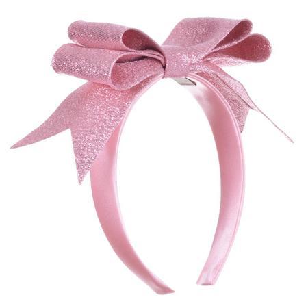 Kids Hucklebones Present Bow Hairband - Sugarplum
