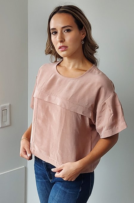 Eve Gravel Ever After Top - Dusty Pink
