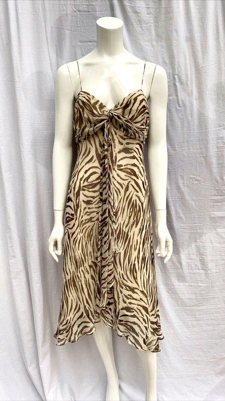 Vintage Silk Animal Print Dress