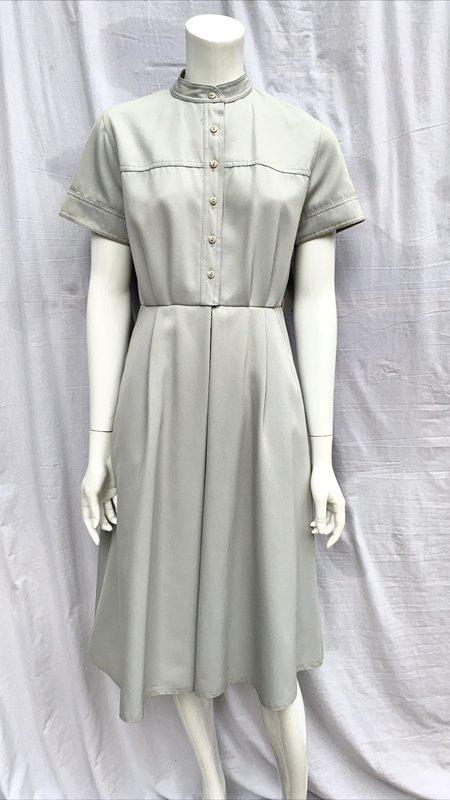 Vintage Day Dress - Grey/Stone