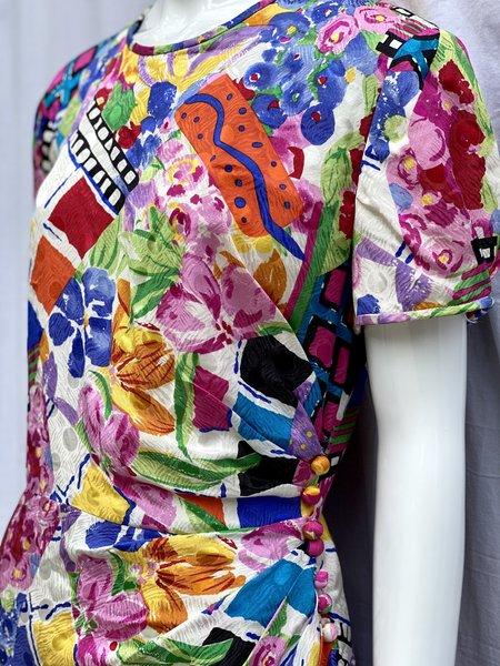 Vintag Silk Floral Wrap Dress