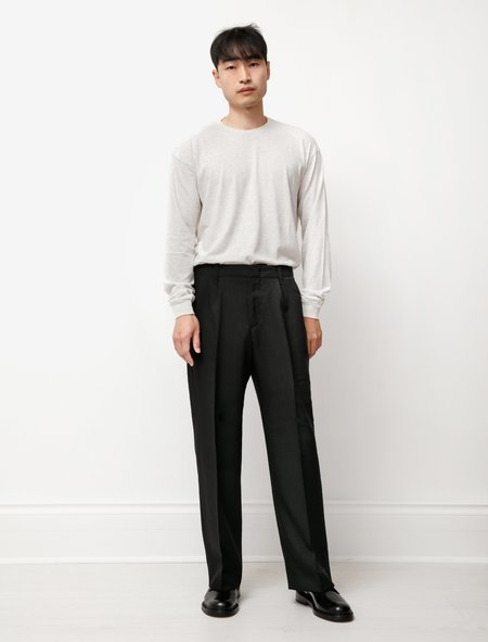 Our Legacy Borrowed Chino in Coarse Wool - Black