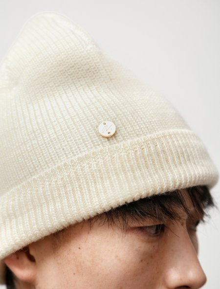 Our Legacy Knitted Hat - Ivory Wool