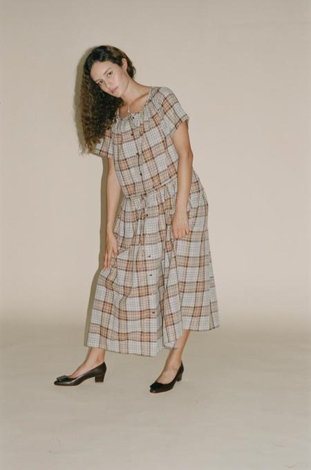 Caron Callahan Agatha Shirt Dress - Brown Plaid