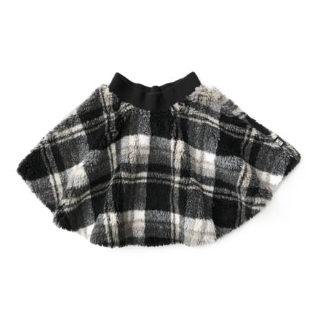 kids LITTLE MAN HAPPY Checked Teddy Circle Skirt - Black