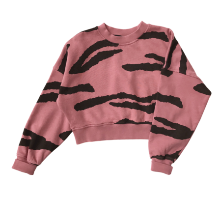kids LITTLE MAN HAPPY Tiger Cropped Sweater
