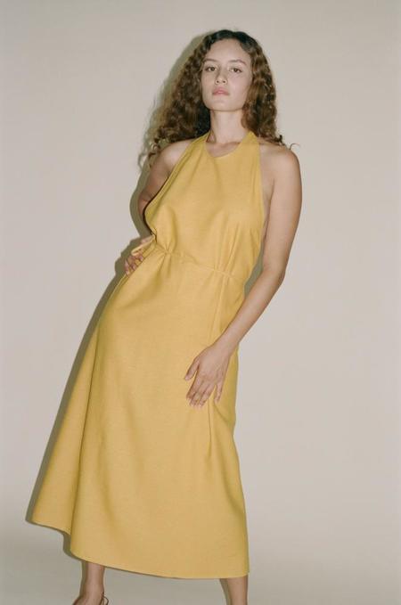Baserange Apron Dress - Gold