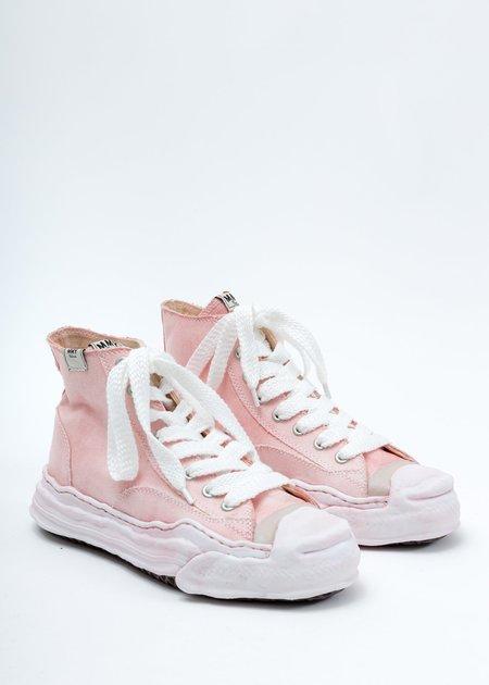 Mihara Yasuhiro Overdyed Original Sole Toe Cap High Top Sneaker - Pink