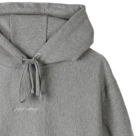 Livestock 400 GSM Embroidered Pullover Hoodie SWEATER - Heather Grey