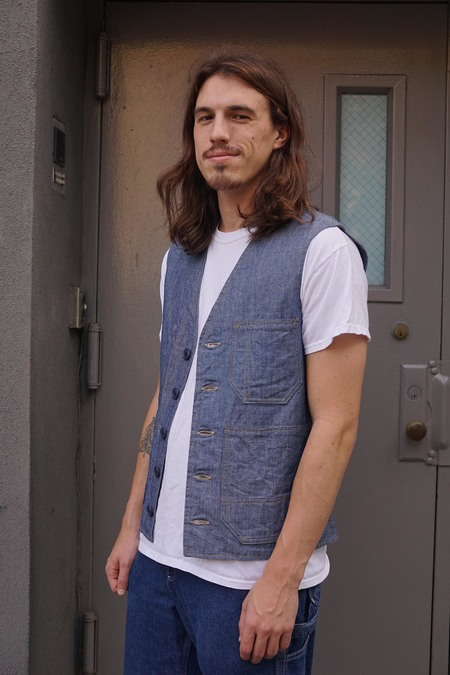 Forager Co. Chambray Hercules Vest - Chambray