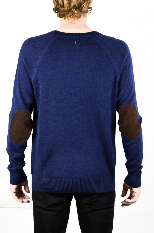 Men's Apolis Alpaca Crew Neck Navy Sweater