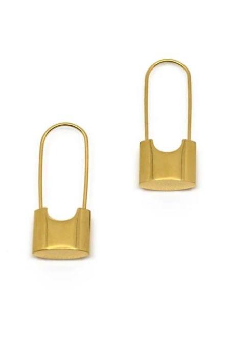 T MARKET Bolt Earrings - Gold