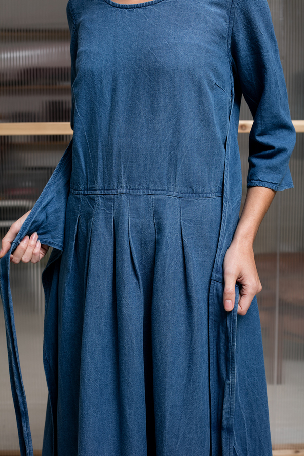 Caron Callahan Hester Dress - indigo
