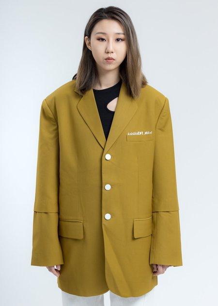 Ann Andelman Oversized Blazer Jacket - Olive