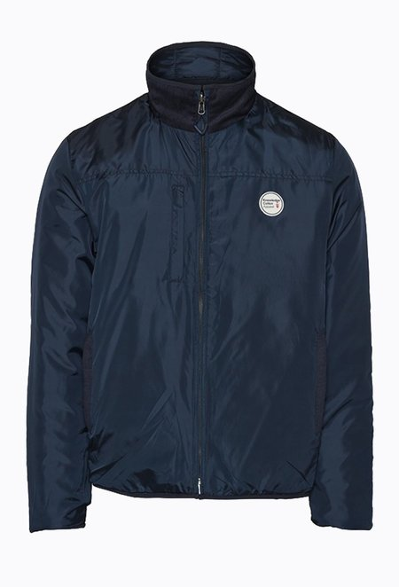 Knowledge Cotton FJORD Reversible Quilted Jacket - Total Eclipse