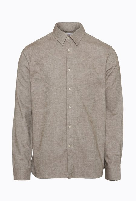 Knowledge Cotton LARCH Flannel Shirt - Friar Brown