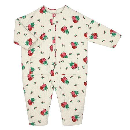 KIDS Tambere Child Jura Floral Print Quilted Jumpsuit - Cream