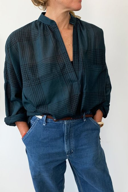 TWO NEW YORK PLAID SHIRT - TEAL