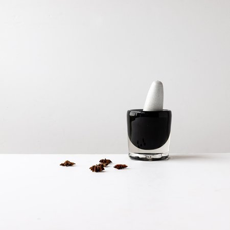 A + J Métissage Blown Glass/Ceramic Pestle & Mortar