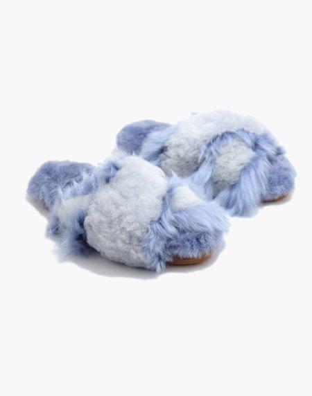 Ariana Bohling Sophie Alpaca Slipper - Lilac/Grey