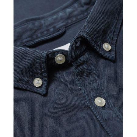 knowledge cotton apparel Larch casual fit tercel shirt - navy