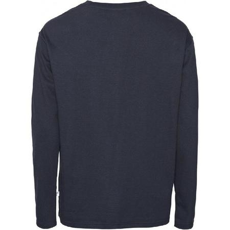 knowledge cotton apparel Walnut heavy organic cotton long sleeve - navy