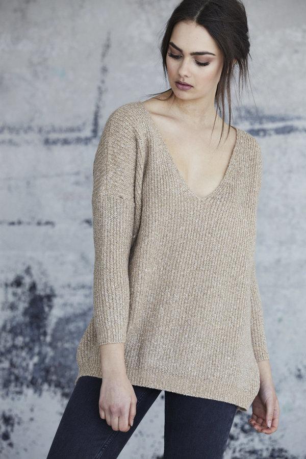 Callahan Heathered V Neck Sweater