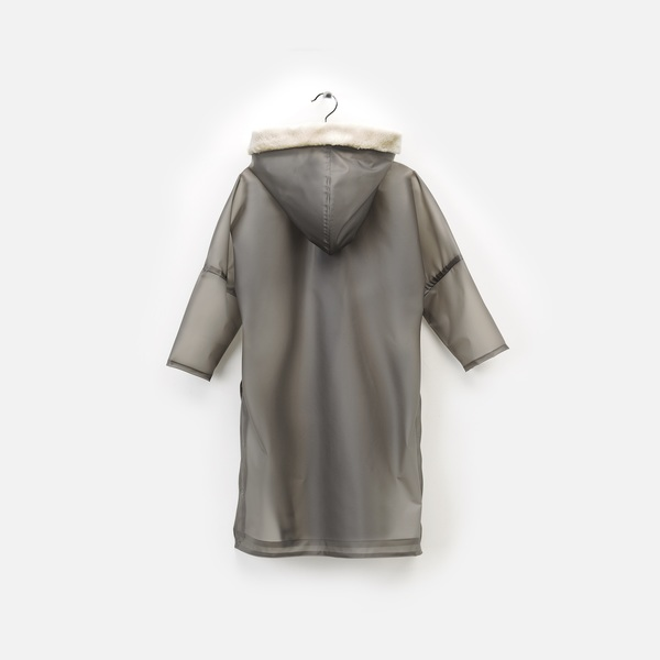 Andorine Grey Oversized Long Cape