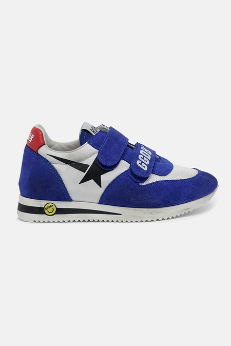 kids Golden Goose Running Sneaker Shoes - Serigraph Star/Bluette
