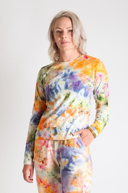 Gravel & Gold Duo Long Sleeve Shirt - Tie Dye